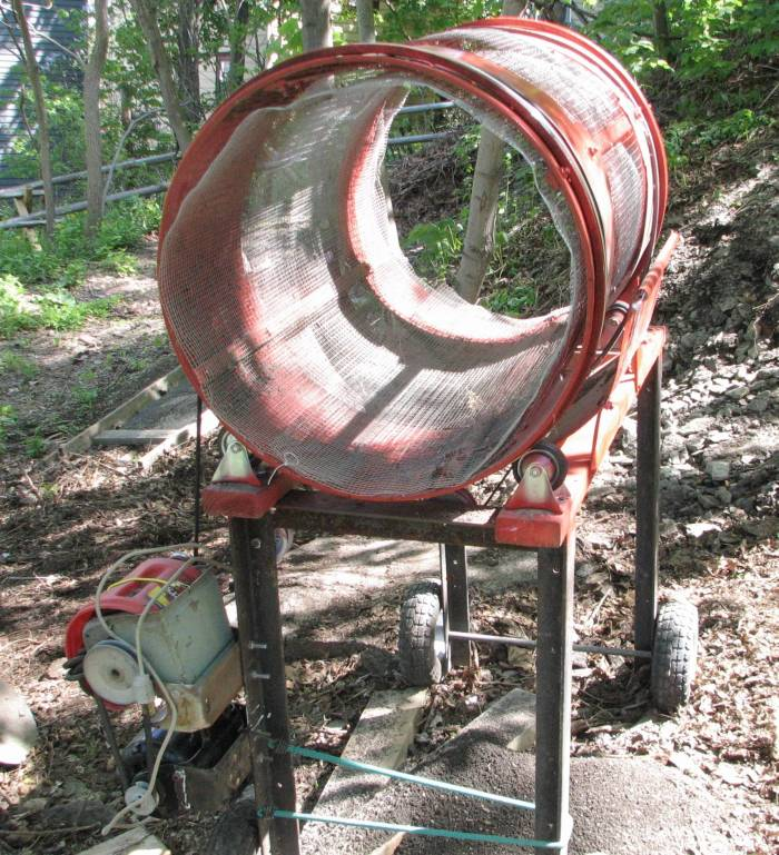 Homemade Rotary Trommel Screen Nifty Stuff Com